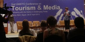 Speaking at the UNWTO Conference on Partnering with Media in Challenging Times