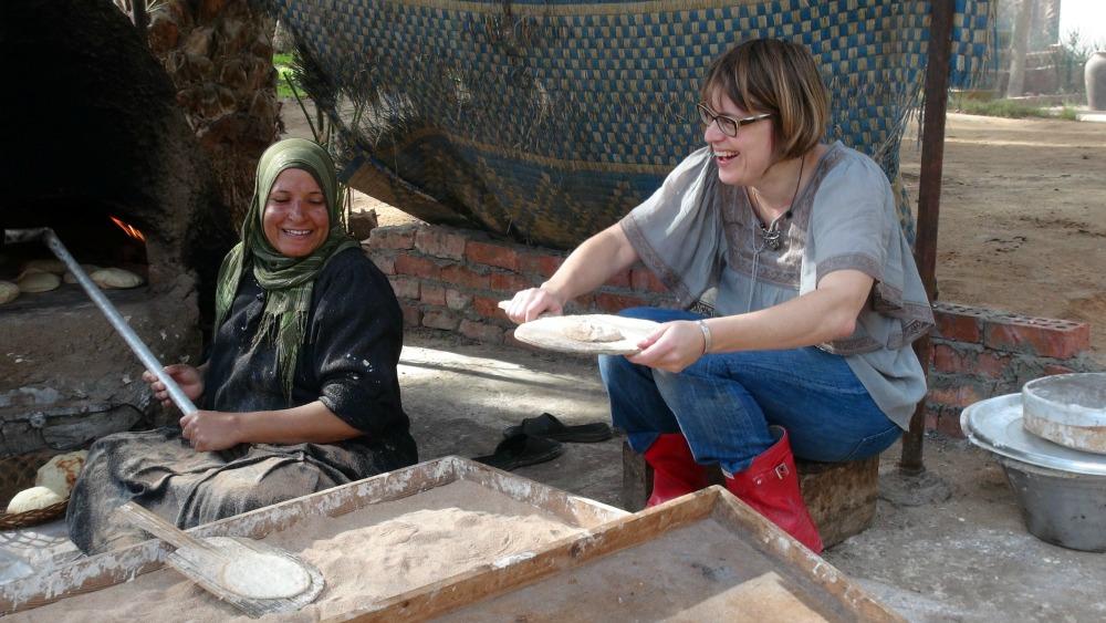 Bread Making in Dahshur, Egypt