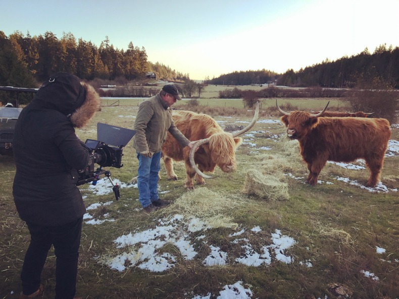 Filming Naturally Ours at Ruckle Heritage Farm