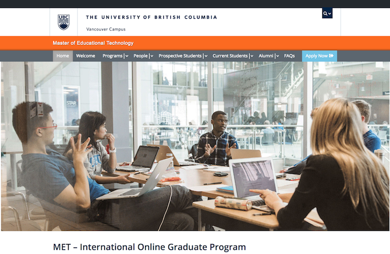 Master of Educational Technology at UBC