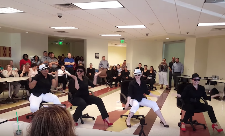 Uptown Funk Office Chair Dance